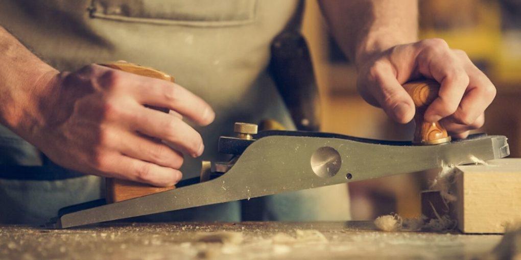 Man working wood